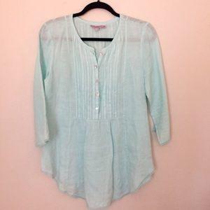 Calypso St Barth linen blouse size medium